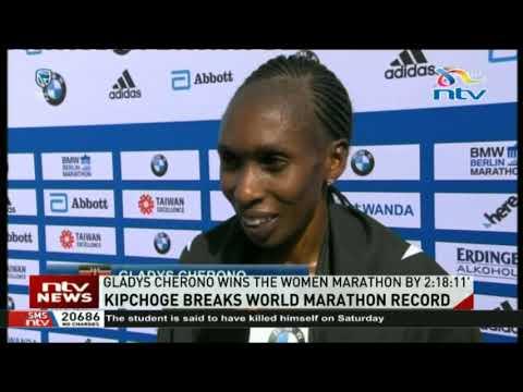 Gladys Cherono wins the Women Marathon by 2:18:11
