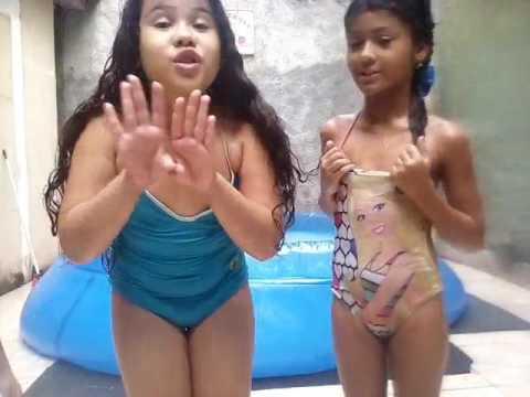 desafio da piscina com minha prima ❤😍