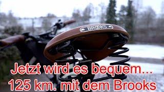 Winterliche E-Bike Tour mit neuem Brooks