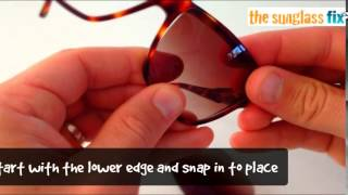 Carrera Sunglasses, How to replace the Lenses