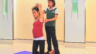 Muscle stretching exercise for 0-3 months pregnant