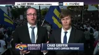 Chad Griffin, Dustin Lance Black, and Stuart Milk on Lawrence O'Donnell 6/26