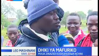 Dhiki ya Mafuriko: Mto Molo umepasua kingo zake, daraja limesombwa na maji