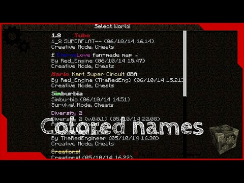 How to make colored minecraft world names minecraft blog how to make colored minecraft world names gumiabroncs Choice Image