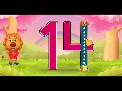 Learn Numbers For Kids with Animated animal characters teaching numbers from 11 to 50-