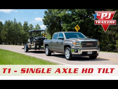2018 PJ Trailers Single Axle HD Tilt (T1) in Hillsboro, Wisconsin - Video 2