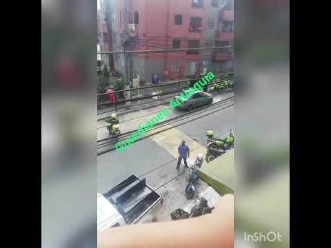 VIDEO | Delincuentes asesinan a policía que trató de evitar atraco a una mujer en Medellín