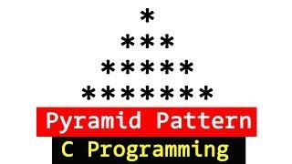 Pyramid Pattern Printing Program in C Programming Language