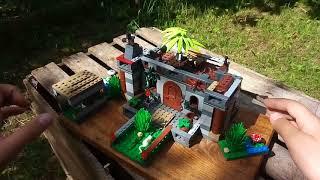 Дача из лего вариант 3. Необычная форма здания, зеленые площадки.