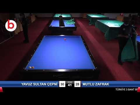YAVUZ SULTAN ÇEPNİ & MUTLU ZAFRAK Bilardo Maçı - 2021 1.ETAP ERKEKLER-7.TUR