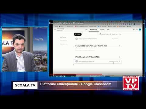 Platforme educaționale – Google Classroom