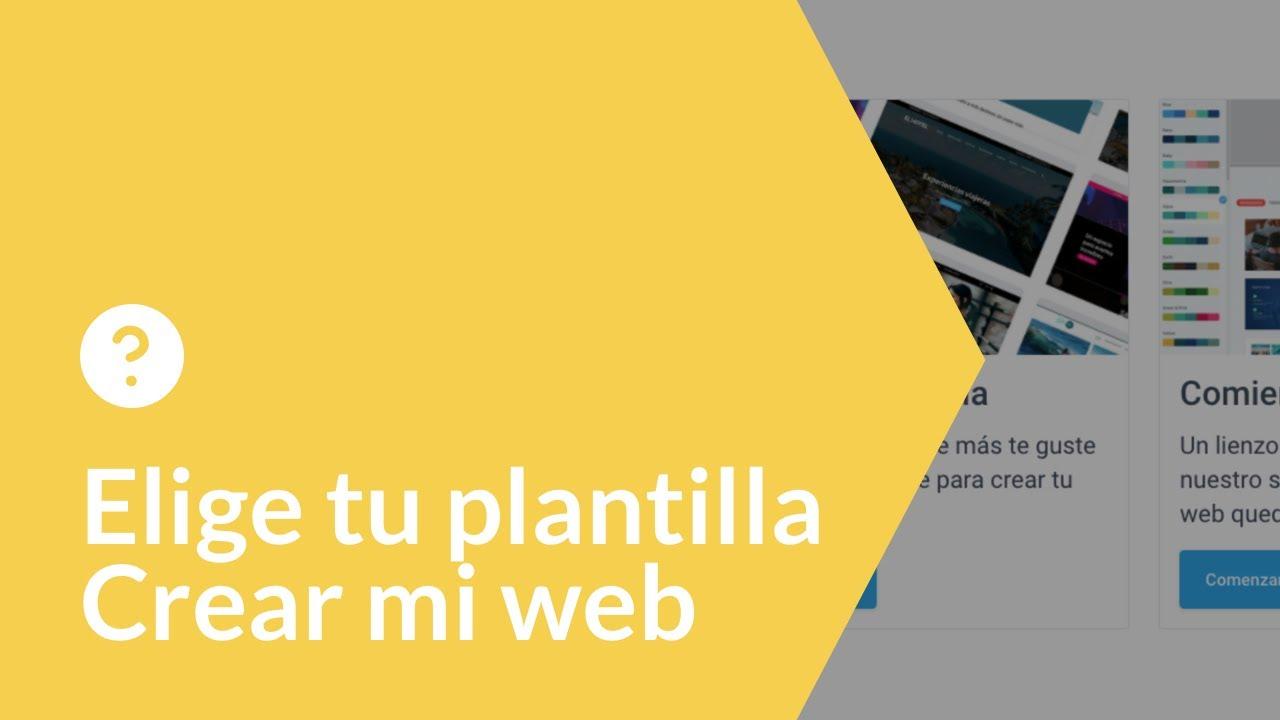 Cómo crear mi web | Elige tu plantilla