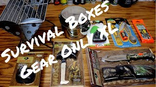 "SURVIVAL BOXES ""GEAR ONLY XL"" REVIEW"