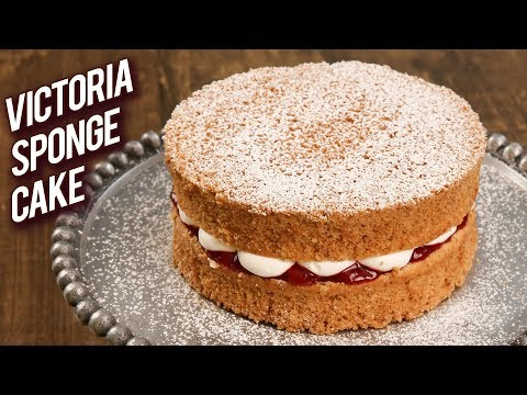 Classic Victoria Sponge Cake Recipe – Homemade Sponge Cake – Tea Time Cake Recipe – Bhumika
