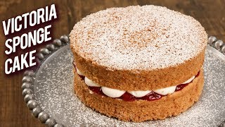 how to make a victoria sponge with plain flour and baking powder