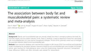 The association between body fat and musculoskeletal pain: a systematic review and meta-analysis.