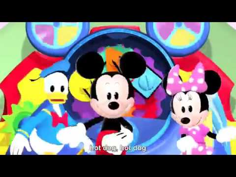 Mickey Mouse Clubhouse The Hotdog Dance Song HD + Lyrics