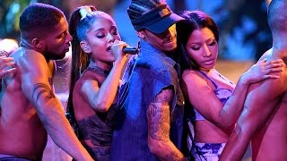 Ariana Grande & Nicki Minaj Give SEXIEST 'Side To Side' Performance At 2016 AMAs