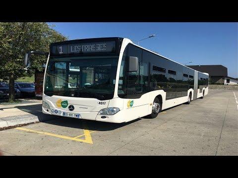 BUS MERCEDES O530 CITARO C2 - Autobus CORALIE Concarneau 1 - 1/87 RIETZE 68722