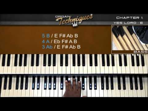 """How to play """"Yes Lord"""" COGIC (ORGAN TECHNIQUES) Organ Tutorial"""