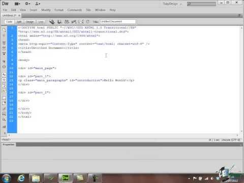 Dreamweaver CS6 Training - Part 34 - Create a Website Course
