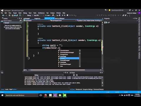 تعلم برمجة سي شارب الدرس 5 | الخيارات والمجاميعWindows Form in c# checkbox