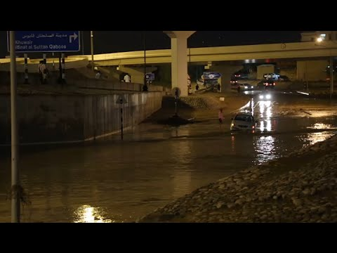 Heavy rain causes flooding in different parts of Muscat