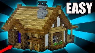 Minecraft Tutorial How To Build A Big Survival House Rustic House Tutorial 2017 Minecraftvideos Tv