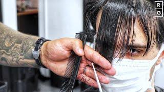 SCISSOR HAIRCUT - MEDIUM LENGTH GROWN OUT HAIR | Post Lockdown Haircut Transformation #2