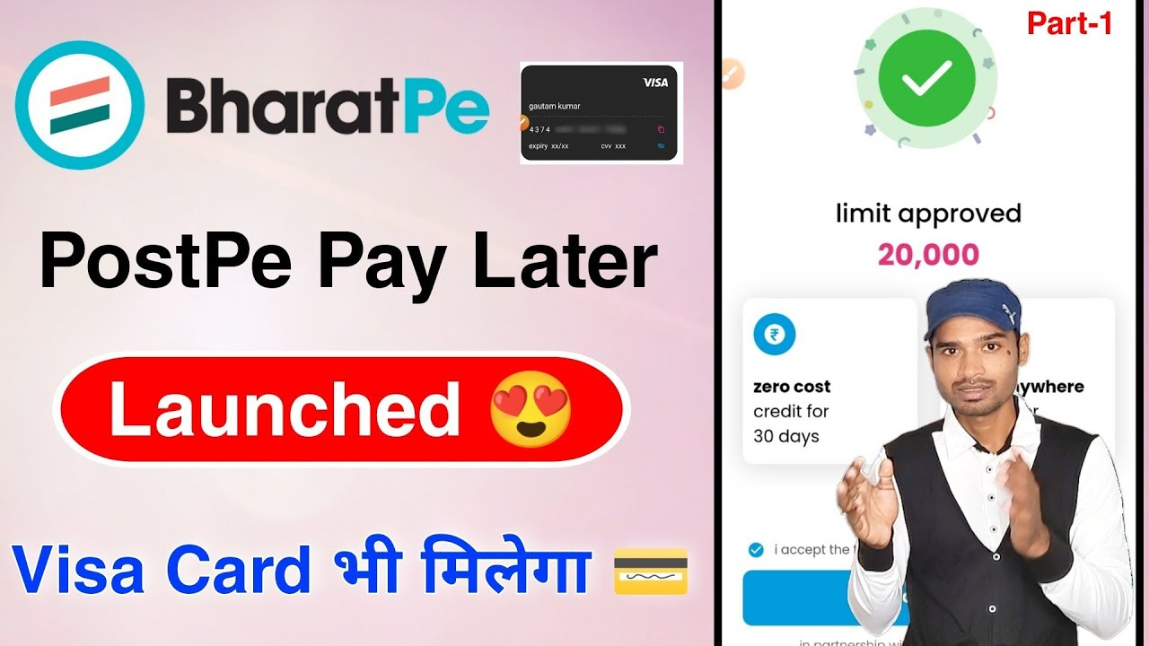 BharatPe Postpe PayLater Launched Life Time Free Charge Card Service thumbnail