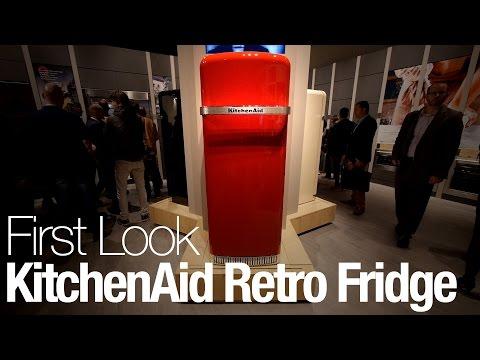 Retro Kühlschrank Kitchenaid : Kitchenaid iconic fridge kcfme r galaxus