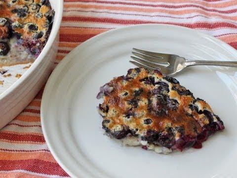 Blueberry Clafoutis Recipe – Fresh Blueberry Baked Custard Dessert