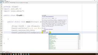 Java Flag GUI example