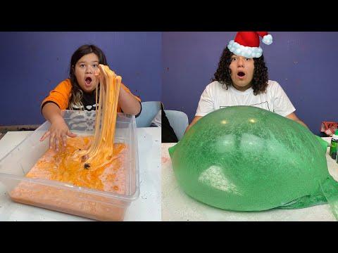 Turning Our Halloween Slimes into Christmas Slimes Challenge