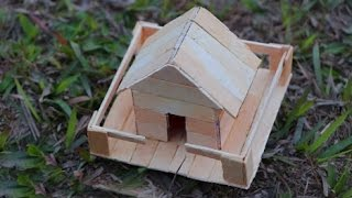 popsicle stick house tutorial easy - TH-Clip