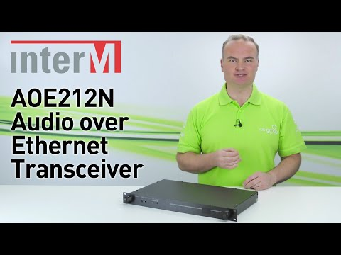 InterM AOE212N Audio Over Ethernet Transceiver