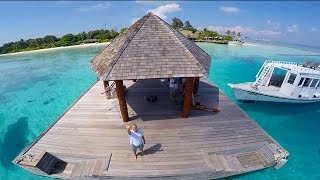 Drone footage of Komandoo Island Resort