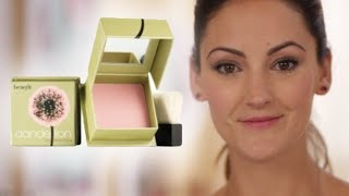 This sheer ballerina pink finishing powder with a subtle shimmer takes your complexion from dull to radiant in an instant! To perk up throughout the day, dust on cheeks or all over face. Soft, natural-bristle blush brush included.  Shop the look at: http://bit.ly/29iYXGy  Subscribe to our YouTube channel for more videos! https://www.youtube.com/benefitukroi