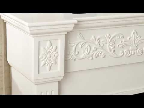 Southern Enterprises Calvert Carved Electric Fireplace - Ivory
