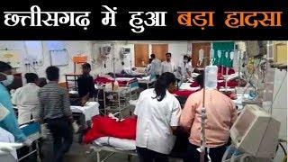 रायपुर में मालवाहक वाहन पलटा, 25 से ज्यादा लोग घायल, कई की हालत बेहद गंभीर