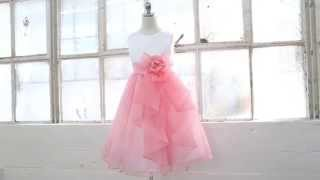 Flower Girl Dress With Layered Ruffle Skirt By Kid Collection