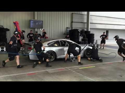 Raw video: Landon Walker's pit crew practices at Hendrick Motorsports