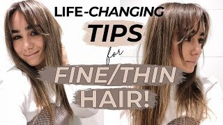 LIFE CHANGING HACKS & TIPS FOR FINE THIN HAIR! Julia Havens