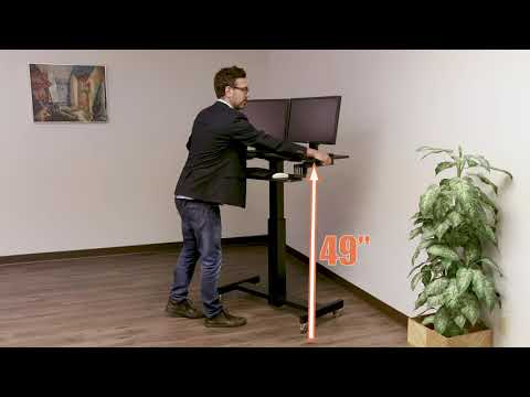 Rocelco MSD-40 Mobile Sit to Stand Desk