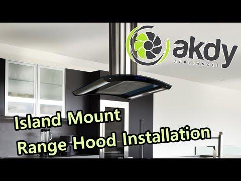 AKDY Island-mount Range Hood Installation A