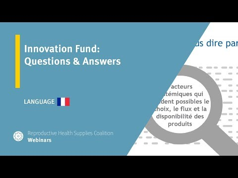Innovation Fund: Questions & Answers (French)