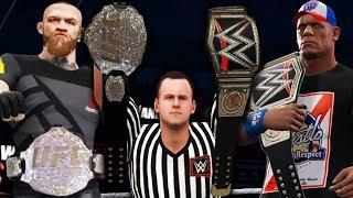 WWE vs UFC: John Cena vs Conor McGregor - Wrestling vs MMA | WWE2K17