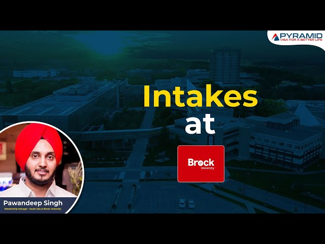 What intakes are available at Brock University?