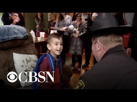 7-year-old boy gets police escort to last cancer treatment