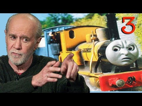 This guy edited clips of George Carlin narrating Thomas the Tank Engine with George Carlin's audiobooks and the result is absolutely hilarious.